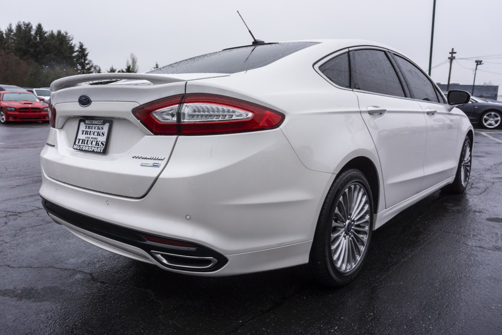 2013 White Ford Fusion Interior >> Used 2013 Ford Fusion Titanium Ecoboost AWD Sedan For Sale - 28468