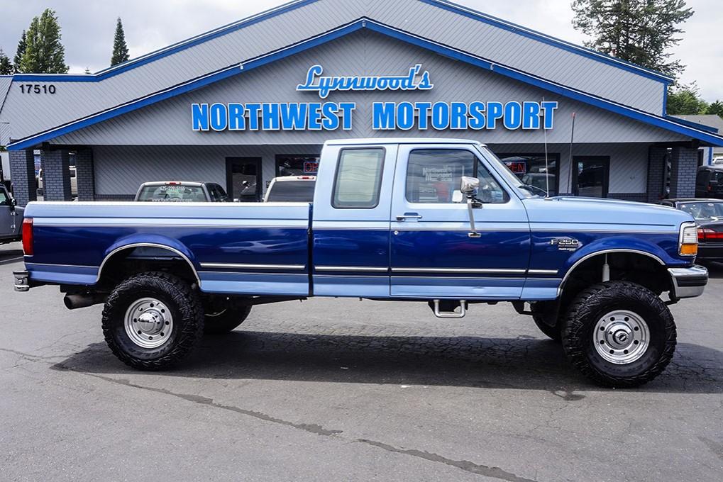 used 1996 ford f 250 xlt 4x4 diesel truck for sale northwest motorsport. Black Bedroom Furniture Sets. Home Design Ideas