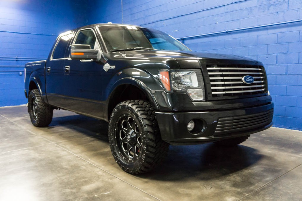 used lifted 2011 ford f-150 harley davidson 4x4 truck for sale - 32944