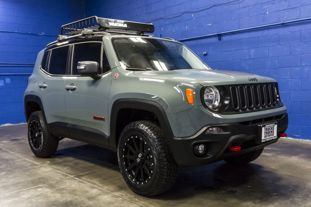 Jeep Renegade Trailhawk Lift >> Used Lifted 2016 Jeep Renegade Trailhawk 4x4 SUV For Sale - 34271