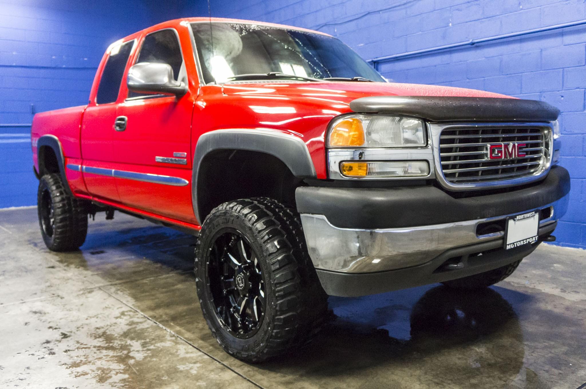 Used Lifted 2002 GMC Sierra 2500HD SLE 4x4 Diesel Truck For Sale - 34355M