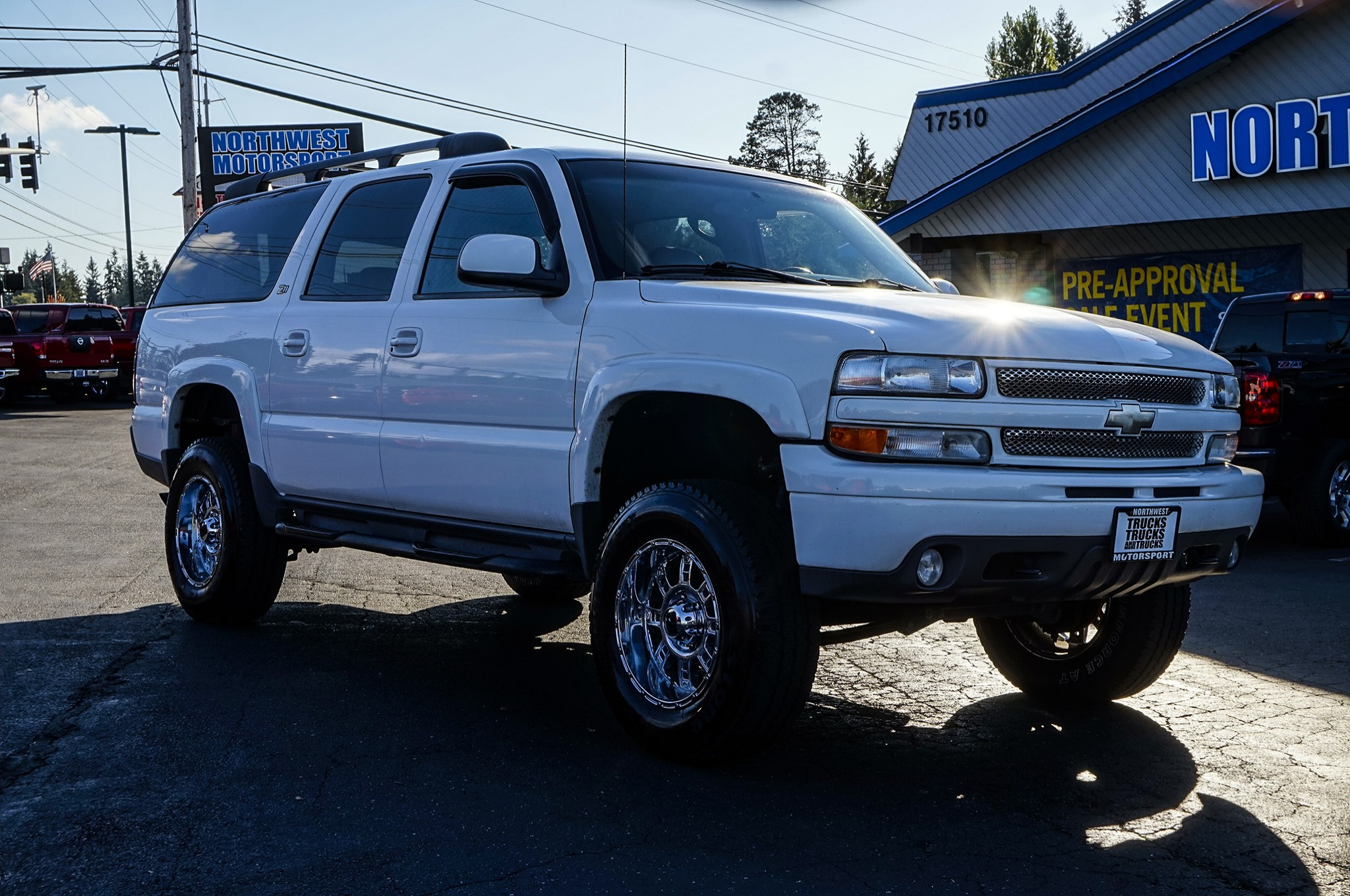 used lifted 2002 chevrolet suburban 1500 z71 4x4 suv for. Black Bedroom Furniture Sets. Home Design Ideas
