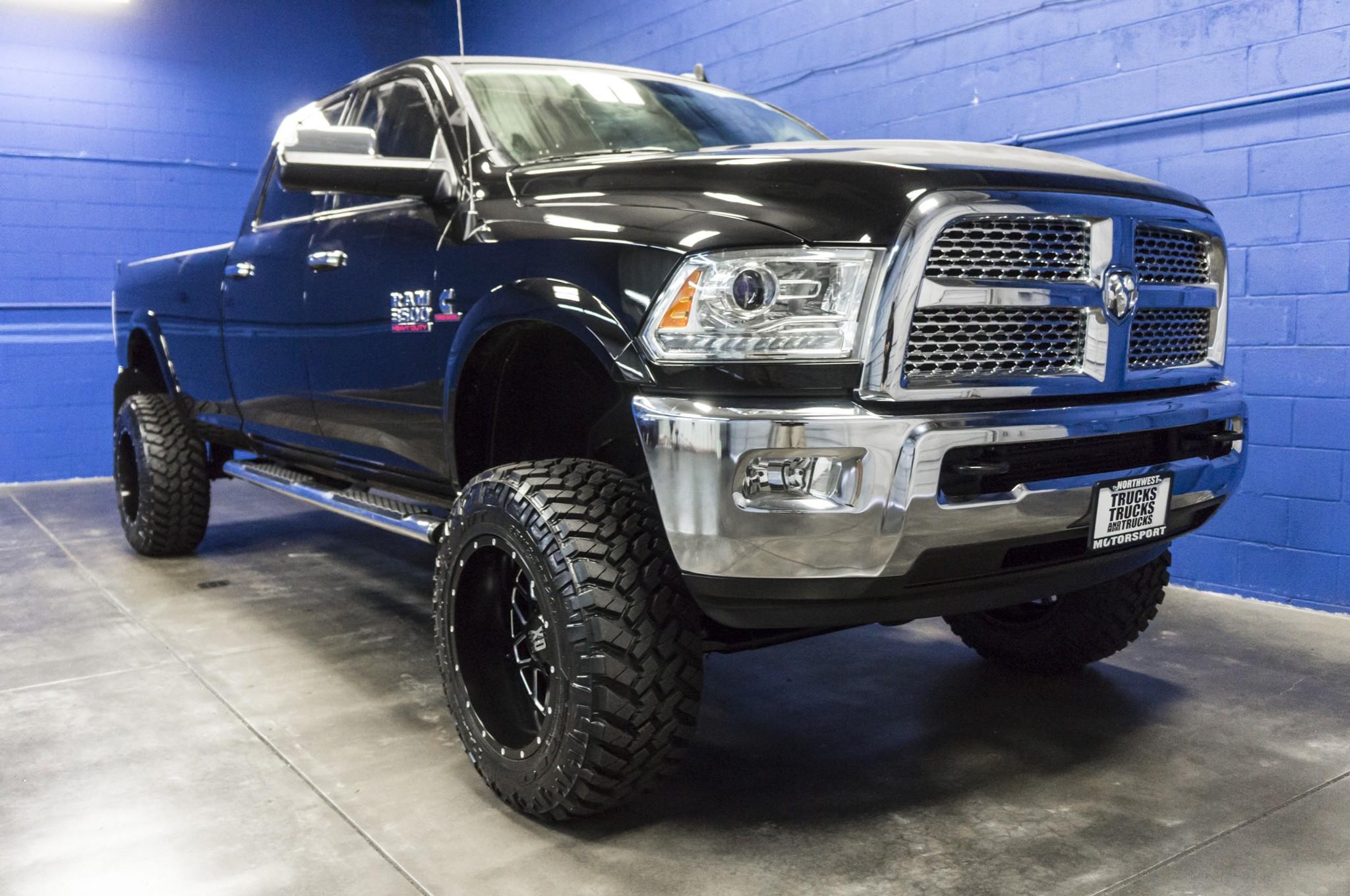 used lifted 2015 dodge ram 3500 laramie 4x4 diesel truck for sale 34910. Black Bedroom Furniture Sets. Home Design Ideas