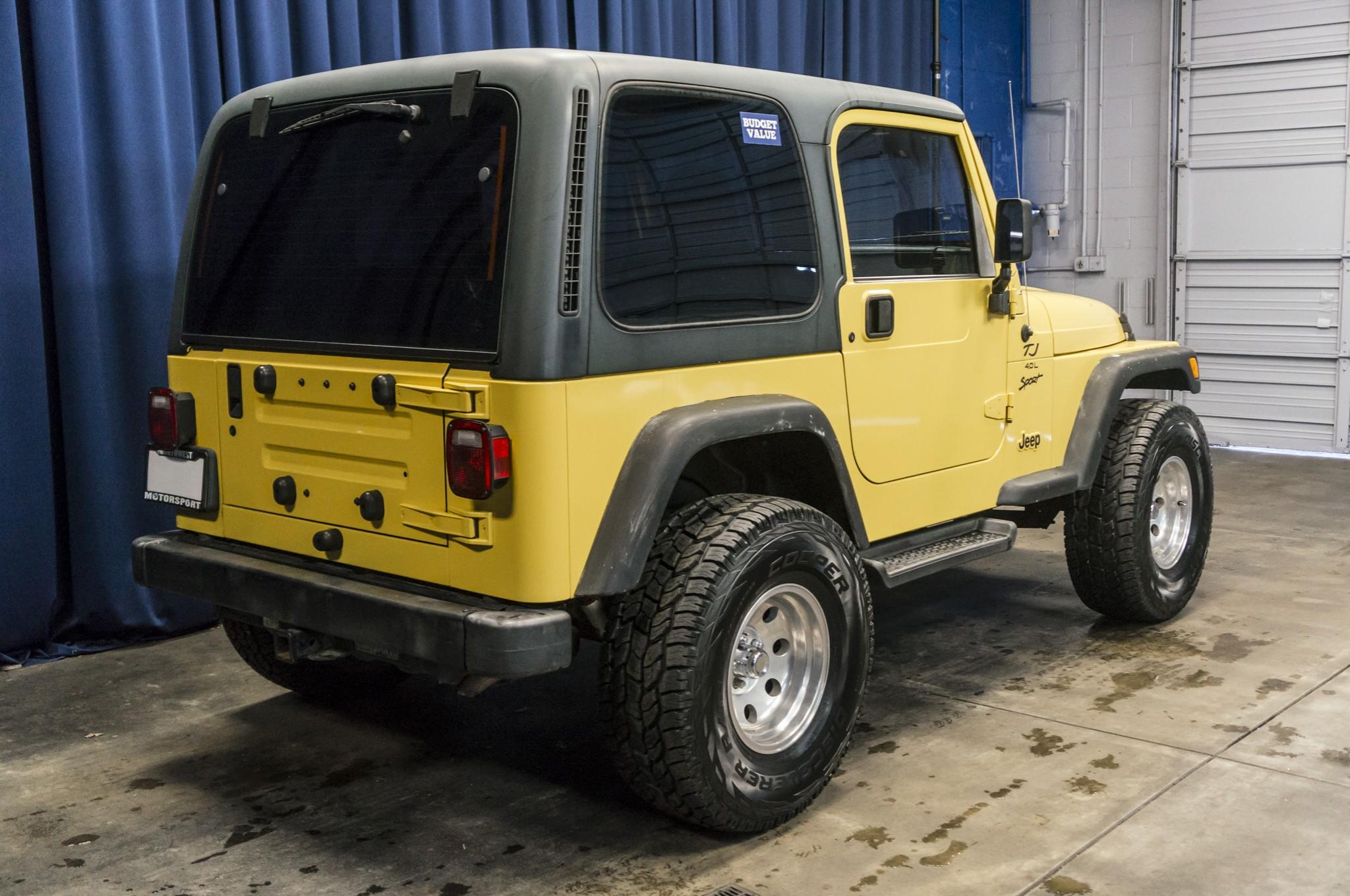 used 2001 jeep wrangler tj sport 4x4 suv for sale 35343a. Black Bedroom Furniture Sets. Home Design Ideas