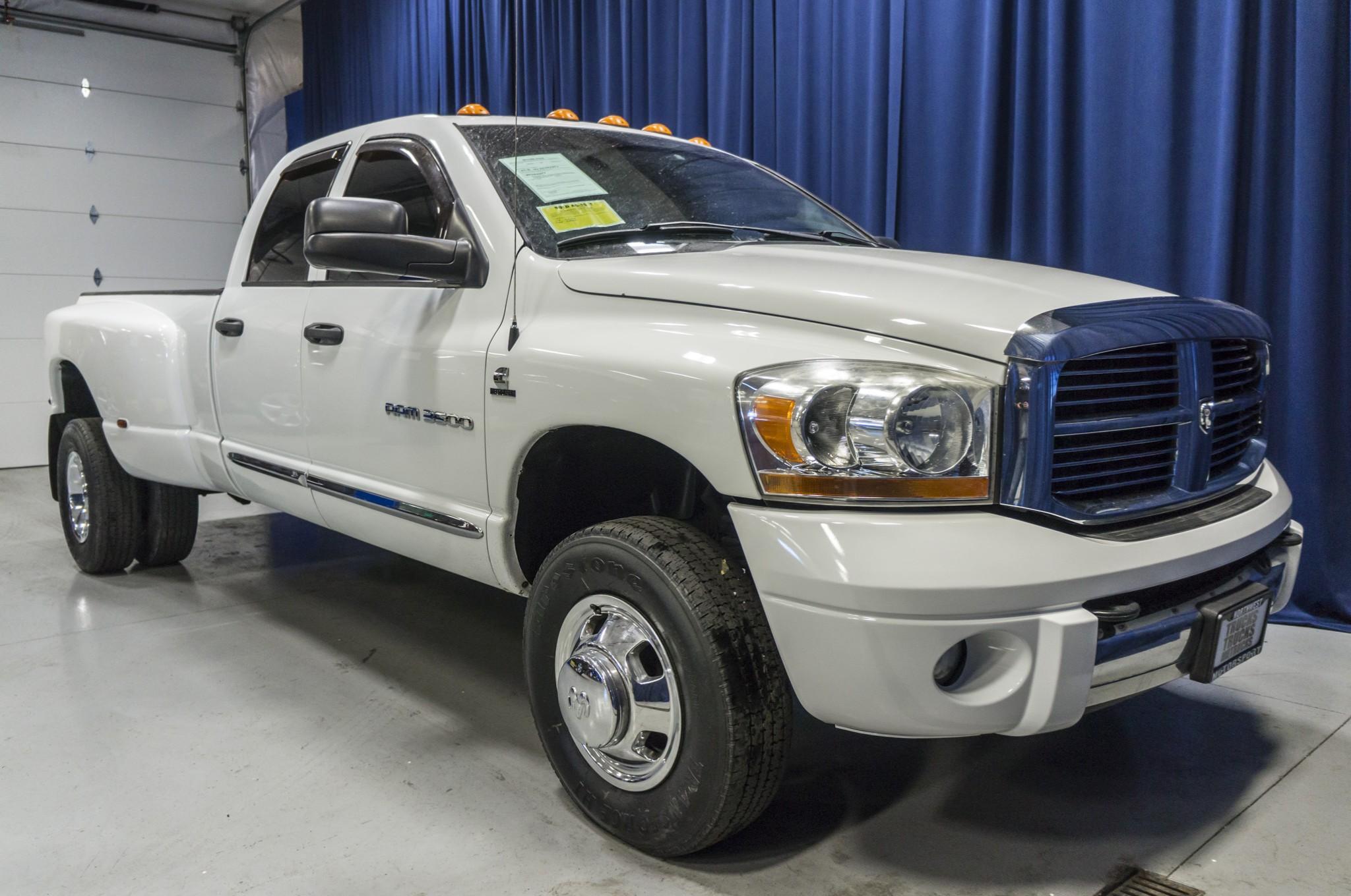 used 2006 dodge ram 3500 laramie dually 4x4 diesel truck for sale 36710a. Black Bedroom Furniture Sets. Home Design Ideas