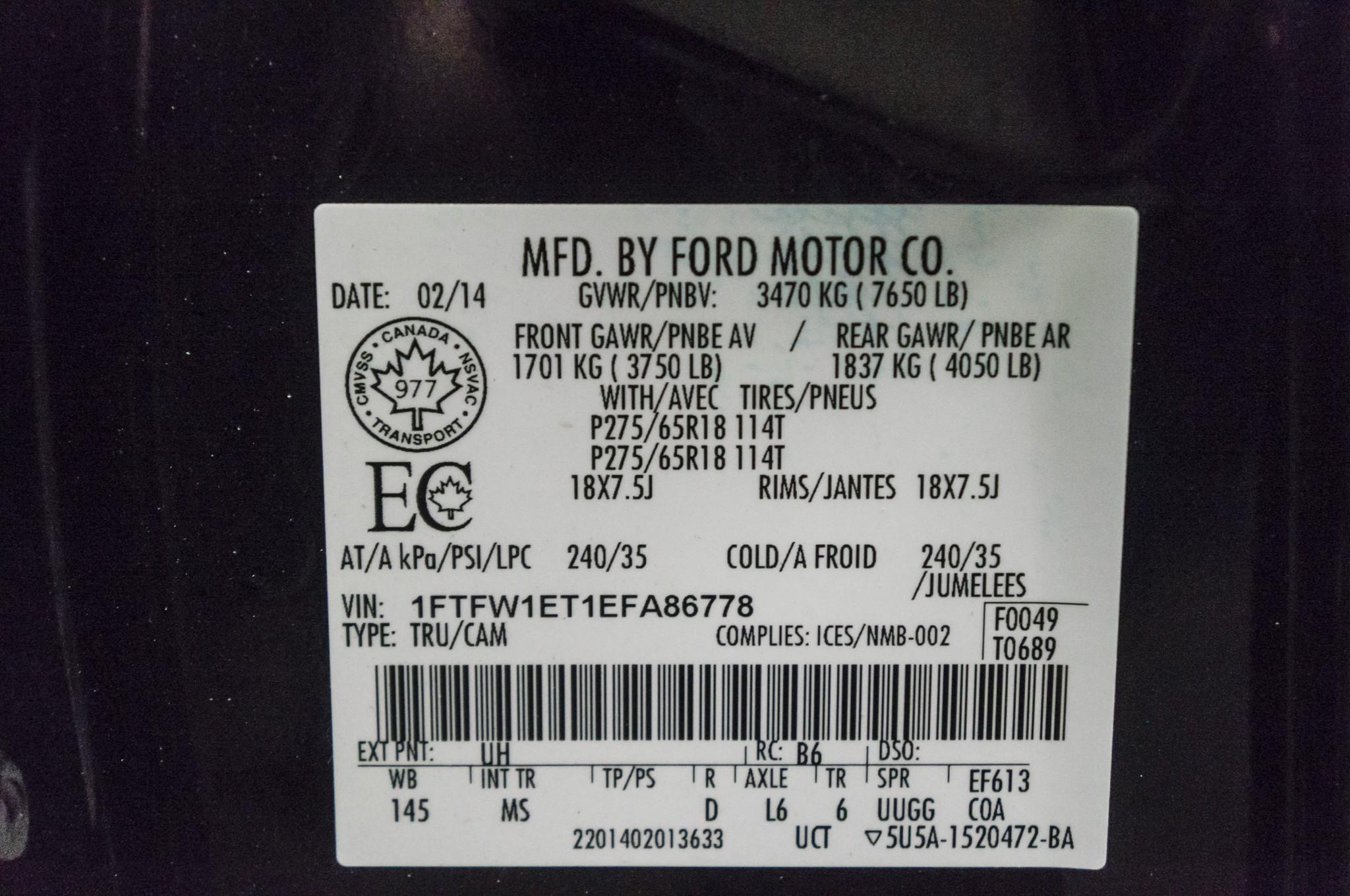 Lifted Ford F XLT X Northwest Motorsport - F 150 2014 avec sticker