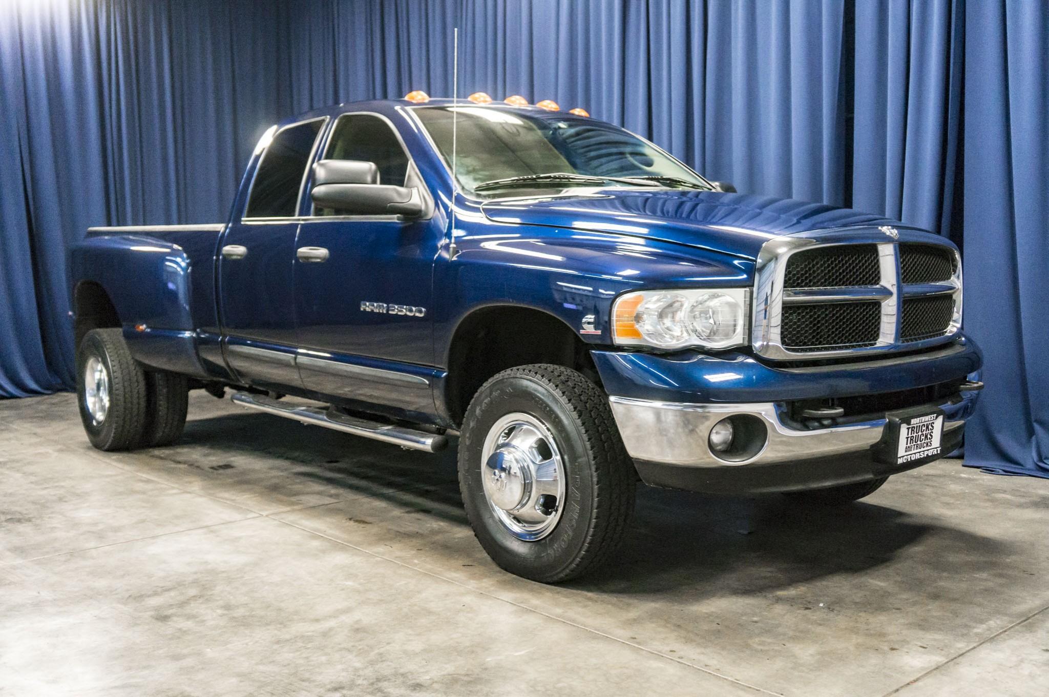used 2004 dodge ram 3500 slt dually 4x4 diesel truck for sale 41953. Black Bedroom Furniture Sets. Home Design Ideas