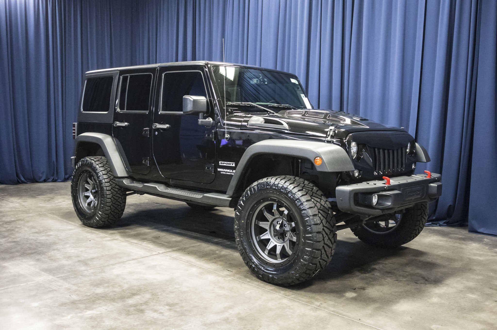 Used Lifted 2015 Jeep Wrangler Unlimited Sport 4x4 JK SUV For Sale