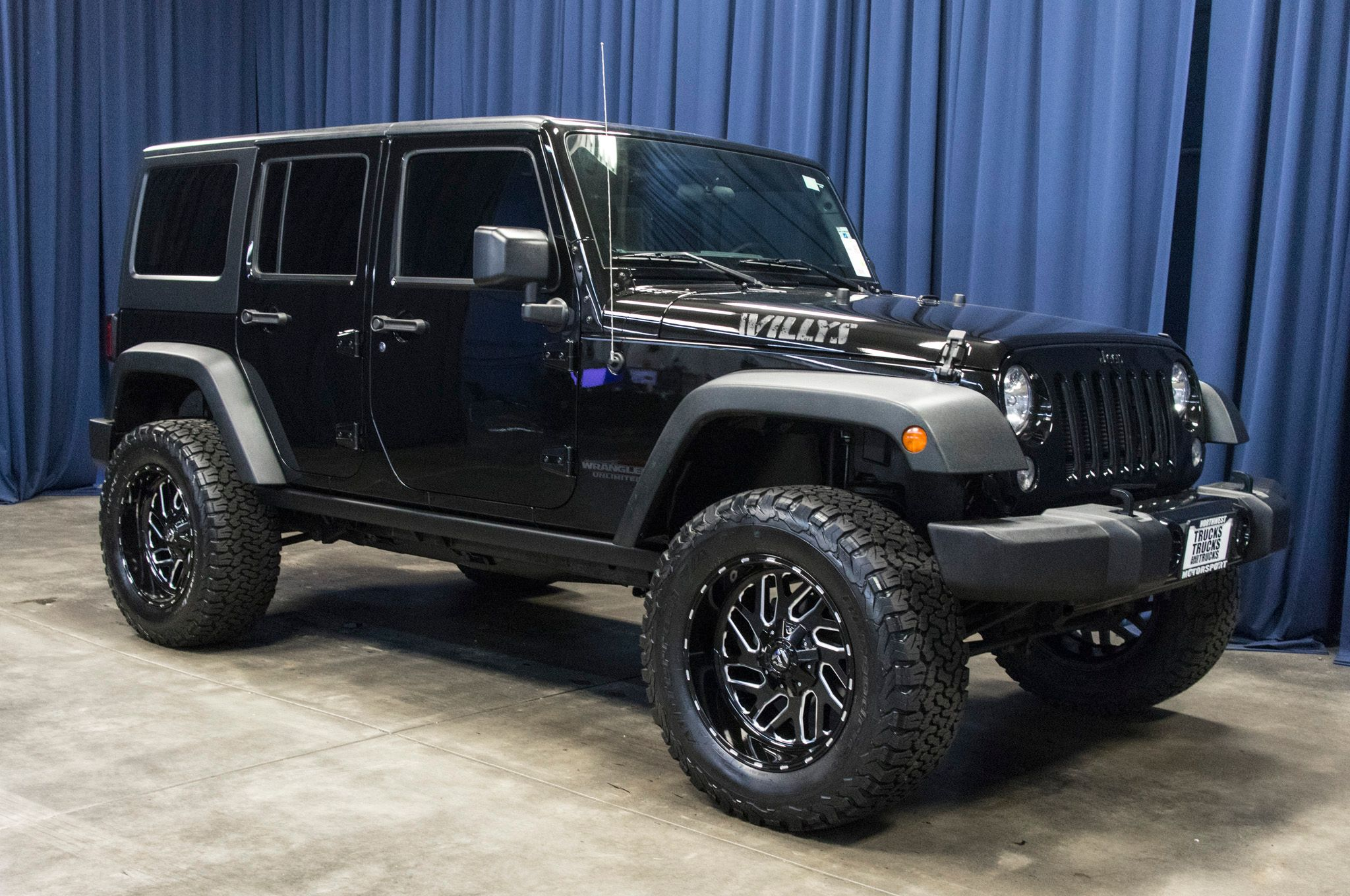 Used Lifted 2016 Jeep Wrangler Unlimited Willys 4x4 JKU SUV For