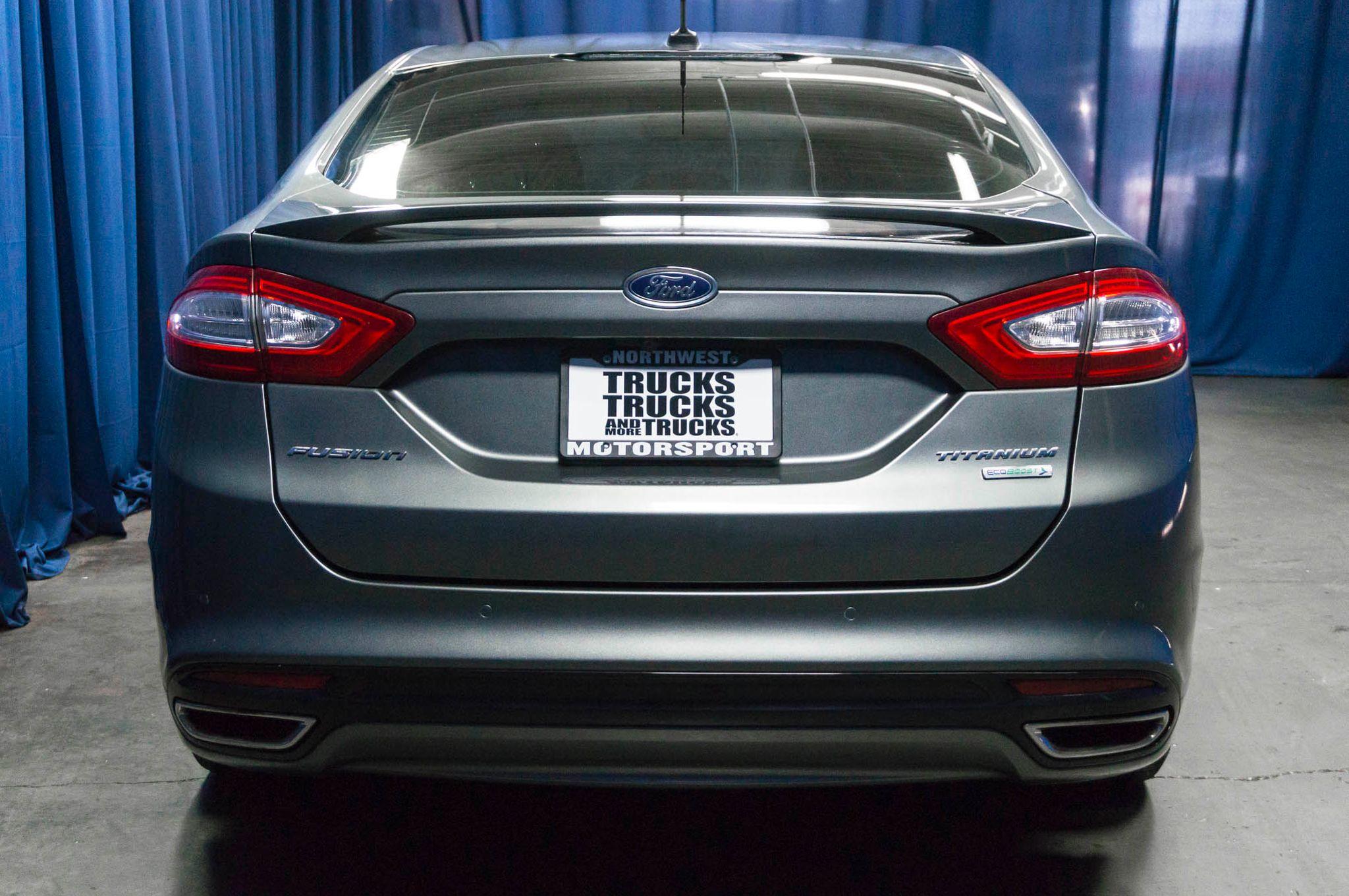 Used 2013 Ford Fusion Titanium Ecoboost FWD Sedan For Sale A