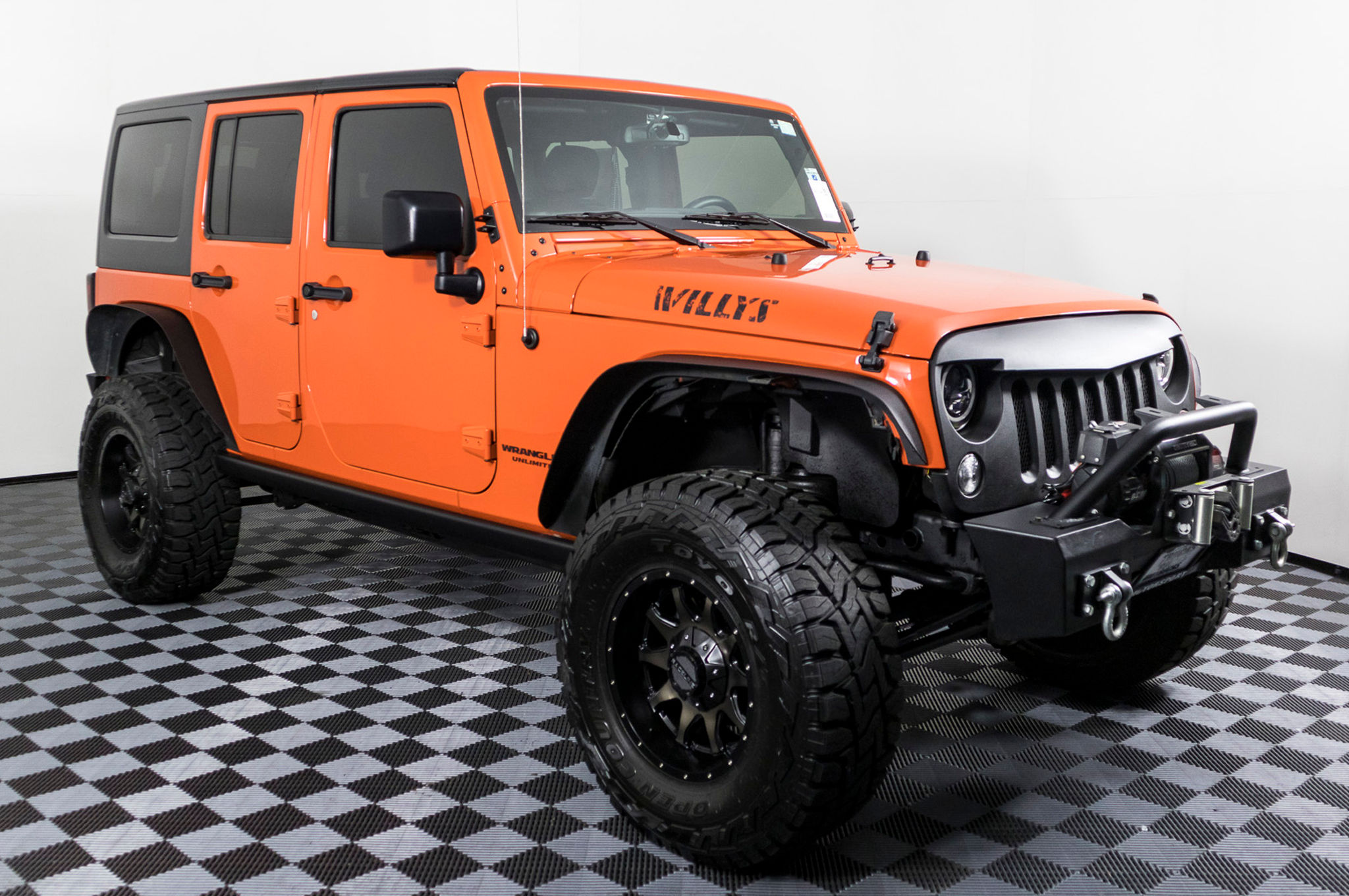 Used Lifted 2015 Jeep Wrangler Unlimited Willys 4x4 SUV For Sale