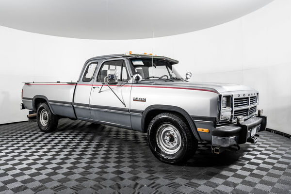 used 1992 dodge d250 le rwd diesel truck for sale northwest motorsport 1992 dodge d250 le rwd diesel truck