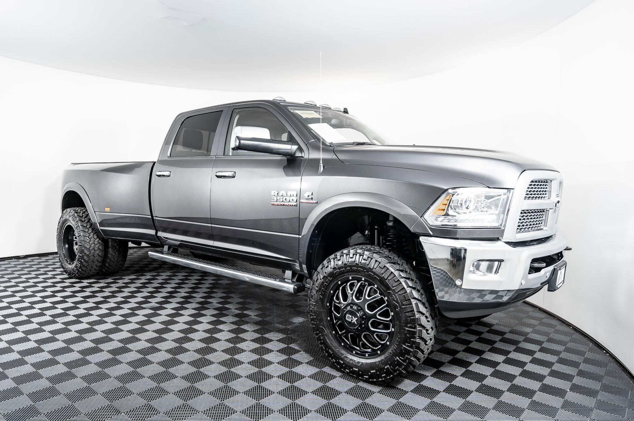 Used Lifted 2018 Dodge Ram 3500 Laramie Dually 4x4 Diesel Truck For Sale Northwest Motorsport