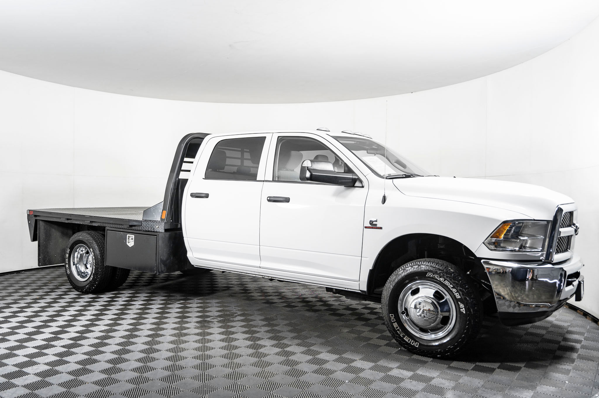 Used 2018 Dodge Ram 3500 Tradesman Flatbed Dually 4x4 Diesel Truck For Sale Northwest Motorsport