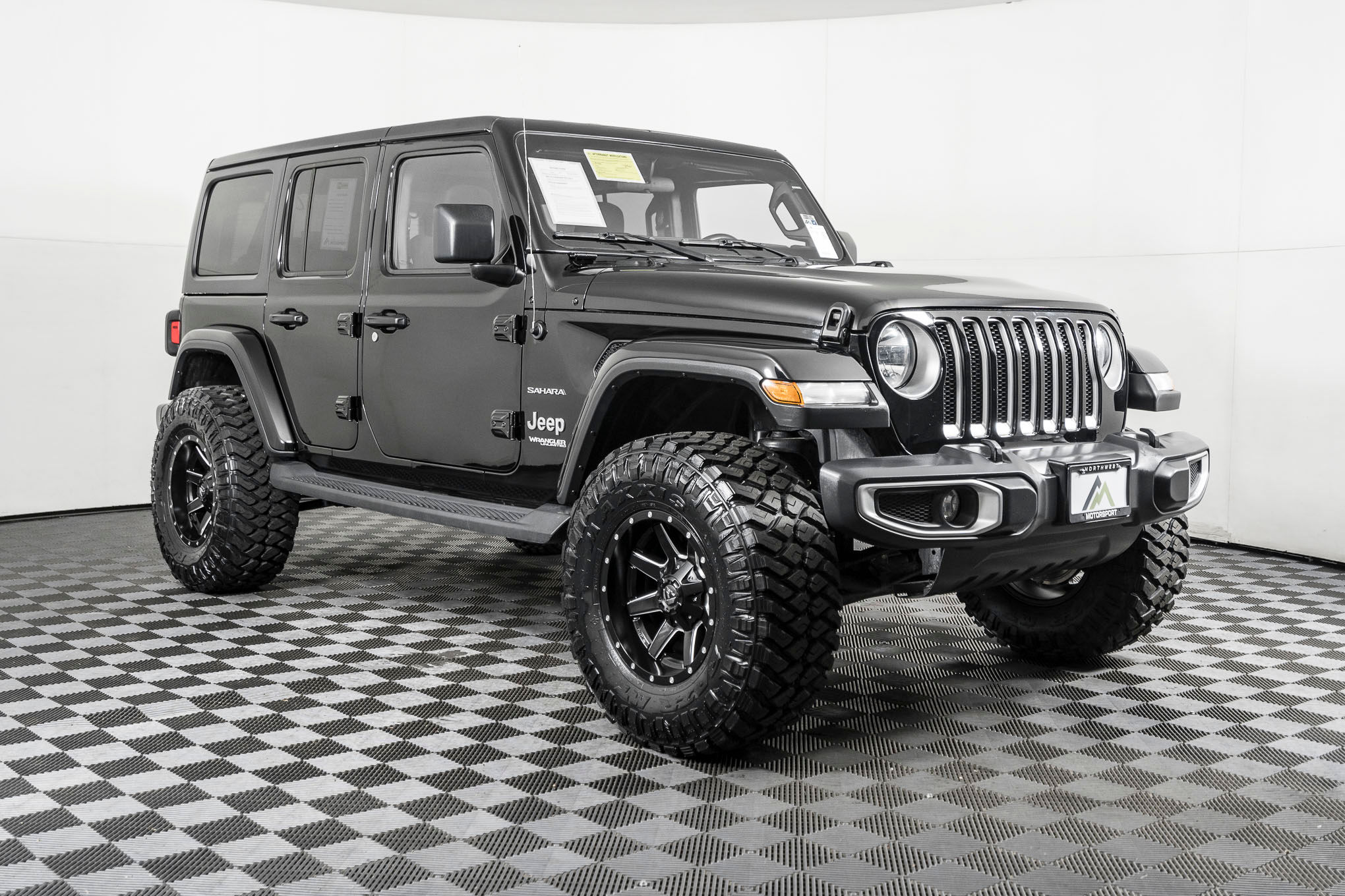 Used Lifted 2020 Jeep Wrangler Unlimited Sahara 4x4 Suv For Sale Northwest Motorsport